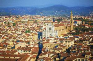 A View Of Santa Croce in Florence Italy
